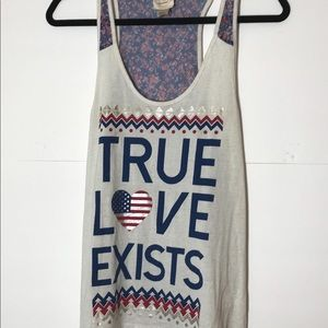 True Love Exists Self Esteem Brand medium USA tank
